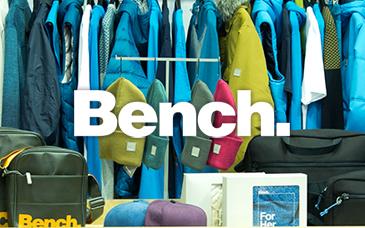 Бренд-зона бренда одежды bench.